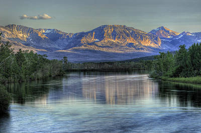 Photograph - St. Mary River by Don Wolf