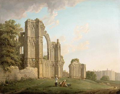 Monastery Painting - St Mary's Abbey -york by Michael Rooker