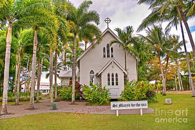 St Mary's By The Sea Art Print by Bob and Nancy Kendrick