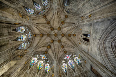 Church Window Digital Art - St Mary's Ceiling by Adrian Evans