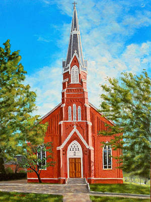 Painting - St. Mary's Church by William Frew