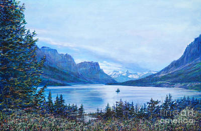 Painting - St Marys Lake by LeRoy Jesfield