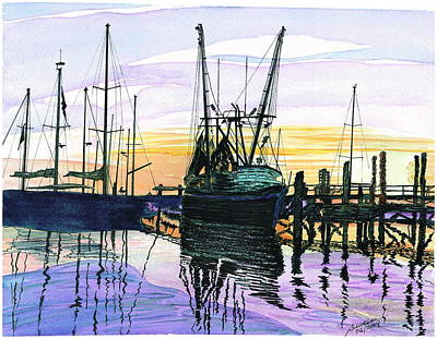 St. Marys Sunset Art Print