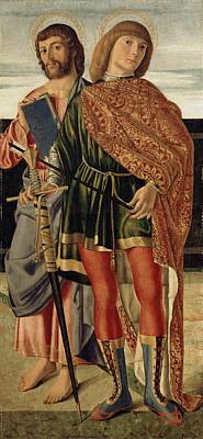 St Matthew And St Sebastian Print by Cristoforo Caselli