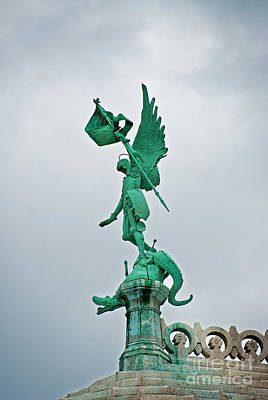 Sacre Coeur Photograph - St Michel And The Dragon by Bob and Nancy Kendrick