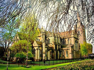 Digital Art - St. Patricks Cathedral Dublin Ireland by Carrie OBrien Sibley