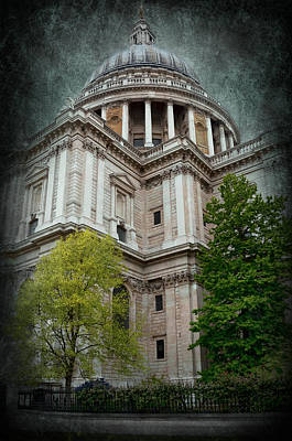 Building Exterior Digital Art - St Paul Cathedral Exterior by Svetlana Sewell