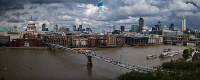 London Skyline Photograph - St Paul's And The City Panorama by Gary Eason