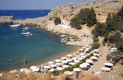 St Paul's Bay Agios Pavlos Lindos Rhodes Greece Art Print