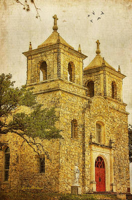 Art Print featuring the photograph St. Peter The Apostle Church by Joan Bertucci