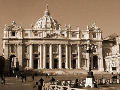 Photograph - St. Peter's Basilica by Donna Corless