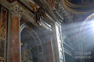 Michaelangelo Photograph - St Peters Light by Bob Christopher