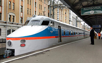 Er Photograph - St Petersburg-moscow Fast Train by Ria Novosti
