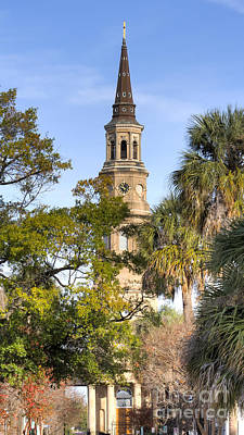 Church Steeple Photograph - St. Philips Church Charleston Sc by Dustin K Ryan