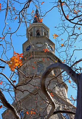 St. Philips Church Steeple - Charleston Sc Art Print by Suzanne Gaff
