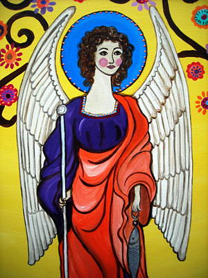 Painting - St Raphael Archangel by Pristine Cartera Turkus