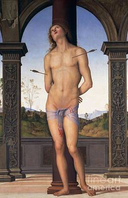 Tied-up Painting - St Sebastian by Pietro Perugino