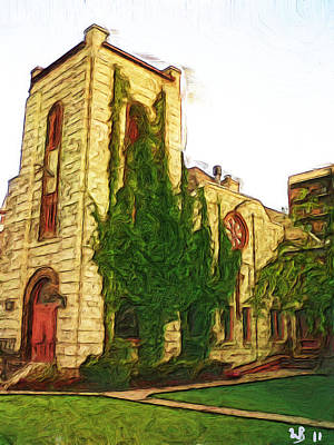 Canadian Heritage Painting - St. Stephens Anglican Church by Wayne Bonney