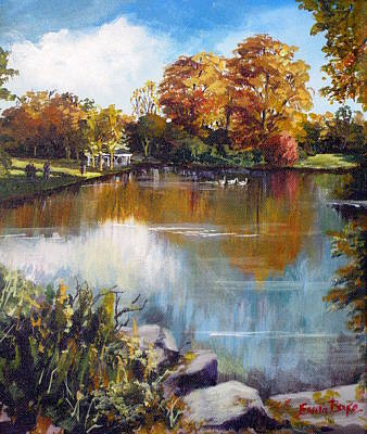 Bandstand Painting - St Stephen's Green Dublin by Emma Boyce