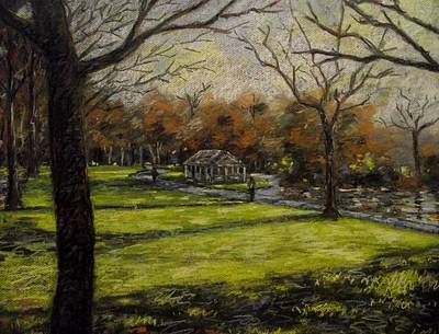 St. Stephen's Green Dublin Art Print by John  Nolan