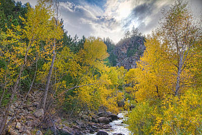 Creek Photograph - St Vrain Canyon Autumn Colorado View by James BO  Insogna