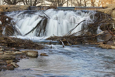 Flowing Photograph - St Vrain River Waterfall Slow Flow by James BO  Insogna