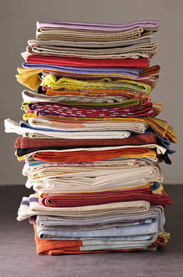 Y120817 Photograph - Stack Of Dish Cloths by Jean-Christophe Riou