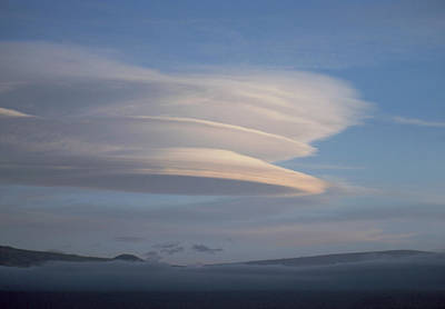 Mauna Kea Photograph - Stack Of Lenticular Clouds Over Mauna Kea, Hawaii by Magrath Photography