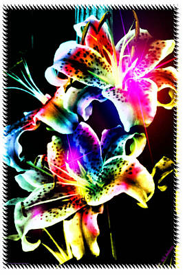 Stack Of Stargazers Dreaming Print by Mick Anderson