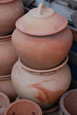 Photograph - Stack Of Waterpots For Sale by Fran Woods