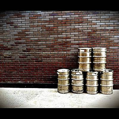 Beer Wall Art - Photograph - Stacked And Ready. #pubs #beer #kegs by Matthew Vasilescu
