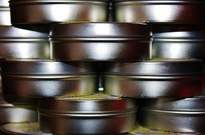 Photograph - Stacked Cans by Bruce Bley