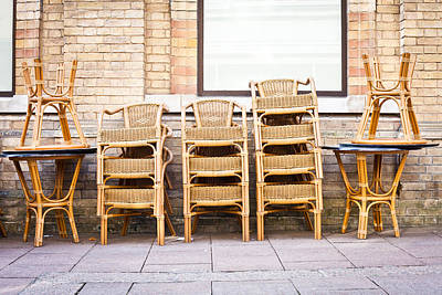 Time Stack Photograph - Stacked Chairs by Tom Gowanlock