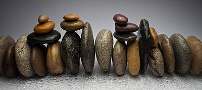 Stacked River Stones Original by Steve Gadomski