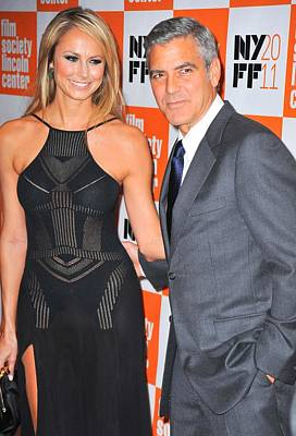 Film Festival Premiere Screening Photograph - Stacy Keibler, George Clooney by Everett