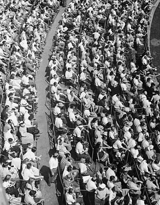 Stadium Crowd Art Print by George Marks