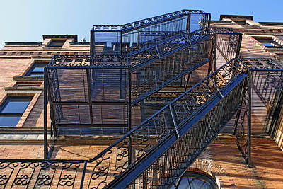 Photograph - Stadium High Fire Escape by Chris Anderson