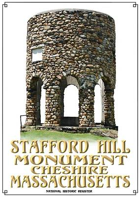 Photograph - Stafford Hill Monument by Len Stomski