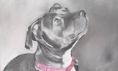 Staffordshire Terrier  Art Print by Karl Simpson