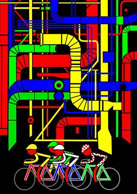 Stage 21 Passing The Backside Of Centre Pompidou Original