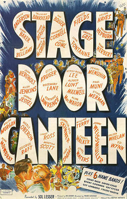 Stage Door Canteen Art Print by Georgia Fowler