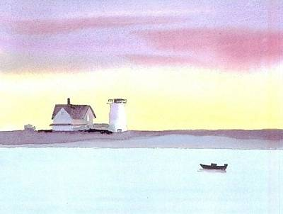 Chatham Lighthouse Painting - Stage Harbor by Joseph Gallant