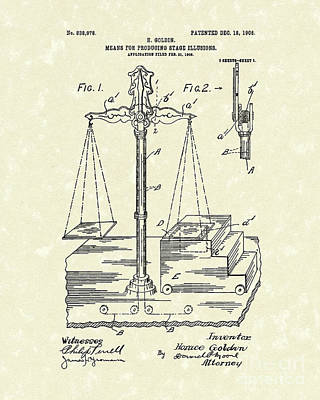 Drawing - Stage Illusions 1906 Patent Art by Prior Art Design