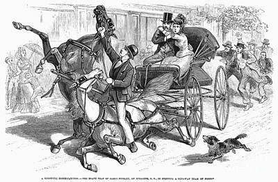 Stagecoach Accident Art Print