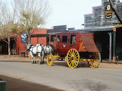 Photograph - Stagecoach by Helen Haw