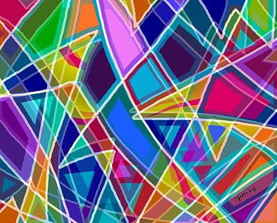 Digital Painting - Stained Glass by Paintings by Gretzky