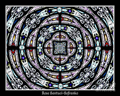 Window Photograph - Stained Glass Kaleidoscope 29 by Rose Santuci-Sofranko