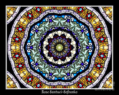Jesus Photograph - Stained Glass Kaleidoscope 30 by Rose Santuci-Sofranko