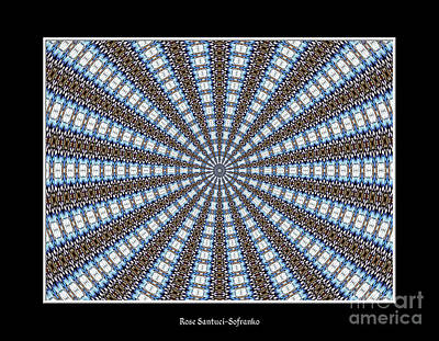 Stained Glass Kaleidoscope 32 Art Print by Rose Santuci-Sofranko