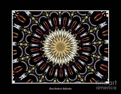 Basilica Photograph - Stained Glass Kaleidoscope 35 by Rose Santuci-Sofranko